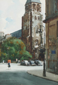 Church of St. Germain des Pres, Paris, by Donald Teague