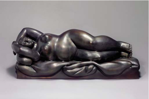 fernando_botero_reclining_woman_on_a_bed