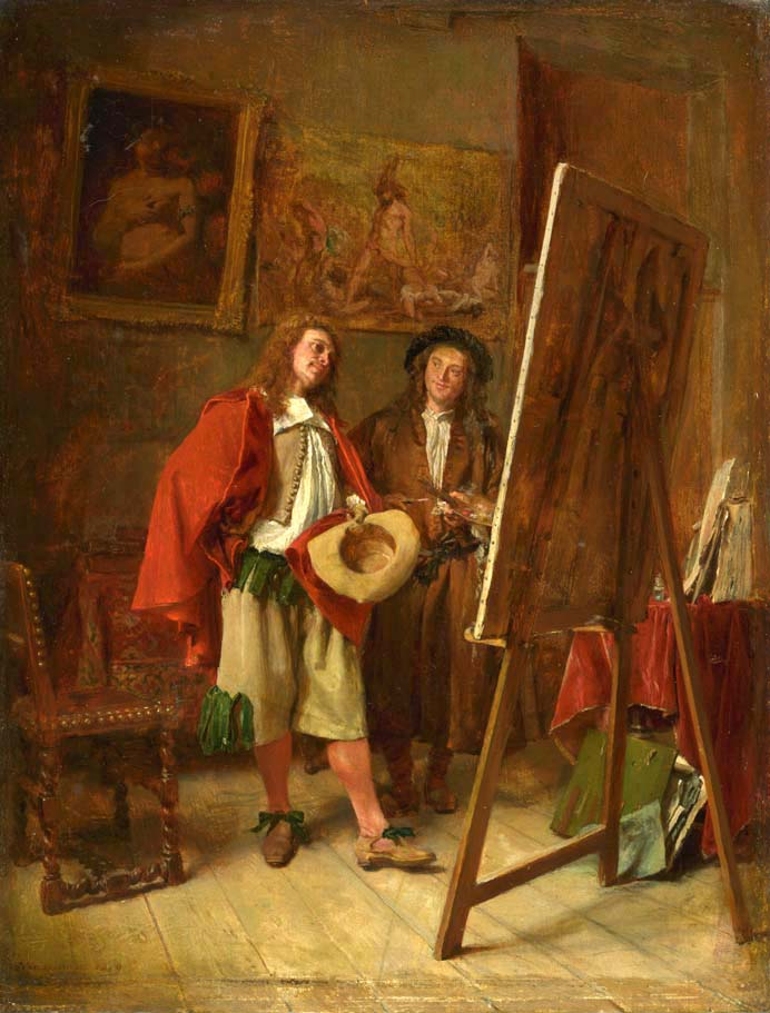 Connoisseur at the Artist's Studio