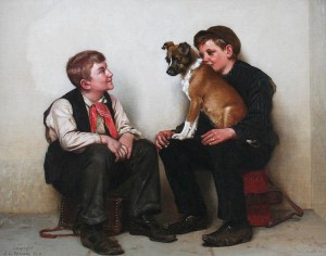 brown-two-shoeshine-boys-with-a-dog-20x25-7282-frameless-large