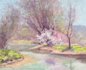 Shulz, Alberta-The Creek in Spring-cropped