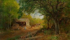 Blakelock-A Sawmill in the Woods