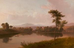 Doughty-Boats on a Lake