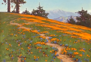 Gamble - Landscape with Poppies and Lupine 20x28 7993 Frameless Large