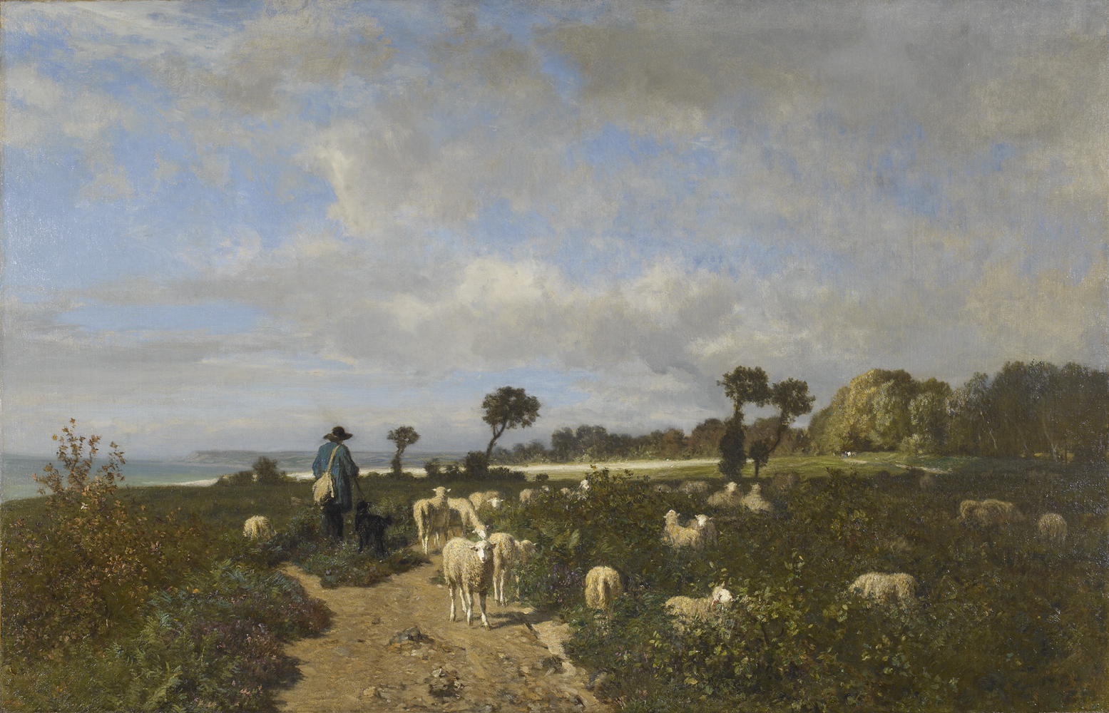 Troyon-Shepherd_and_Sheep_near_sea96