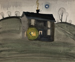 Burchfield-Untitled (House on a Hill)