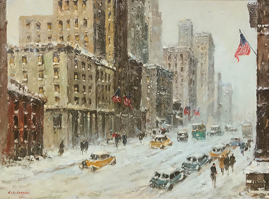 Cooper - Winters Day 5th Ave 12x16 8015 Frameless Large