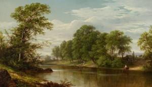 Johnson-Scene on the Boquette, Essex County, New York, 1860