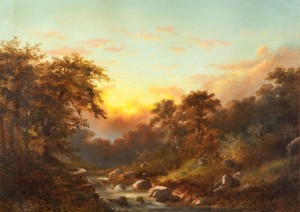 Loemans-Forest Sunset with Stream