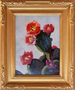 conrad buff oil painting flowering cactus desert