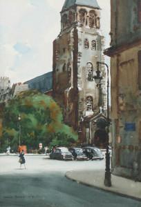 Church of St. Germain des Pres, Paris, by Donald Teague