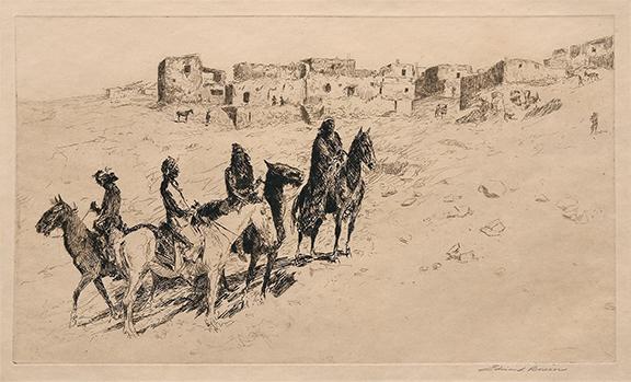 "alt ""Navajo Visitors at Oriabi (Arizona)"""