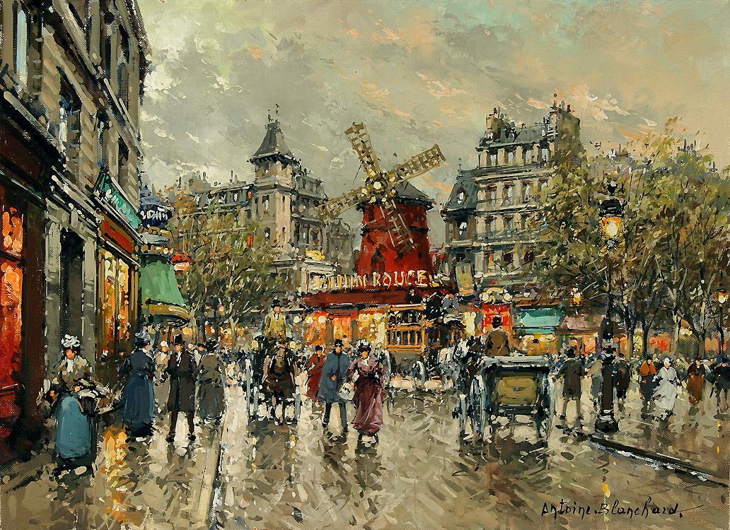 alt Le Moulin Rouge, Place Blanche a Montmartre