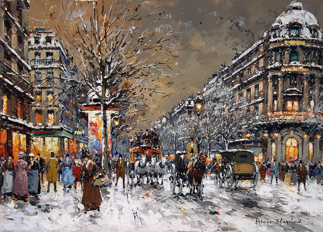 alt Les Grands Boulevards, sous la Neige