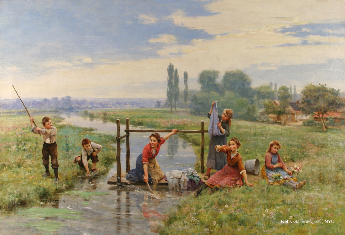 alt Children Playing in a Landscape