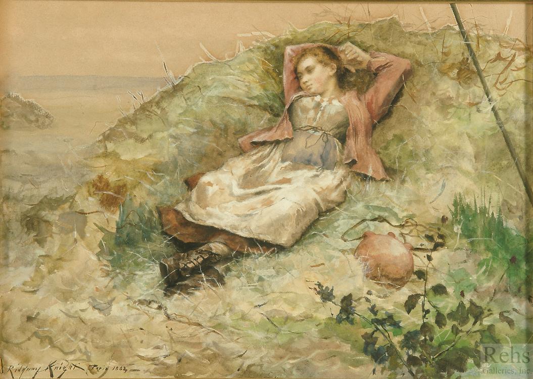 alt Study of Woman in Field