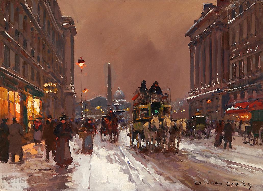 alt Rue Royale, Concorde in Winter