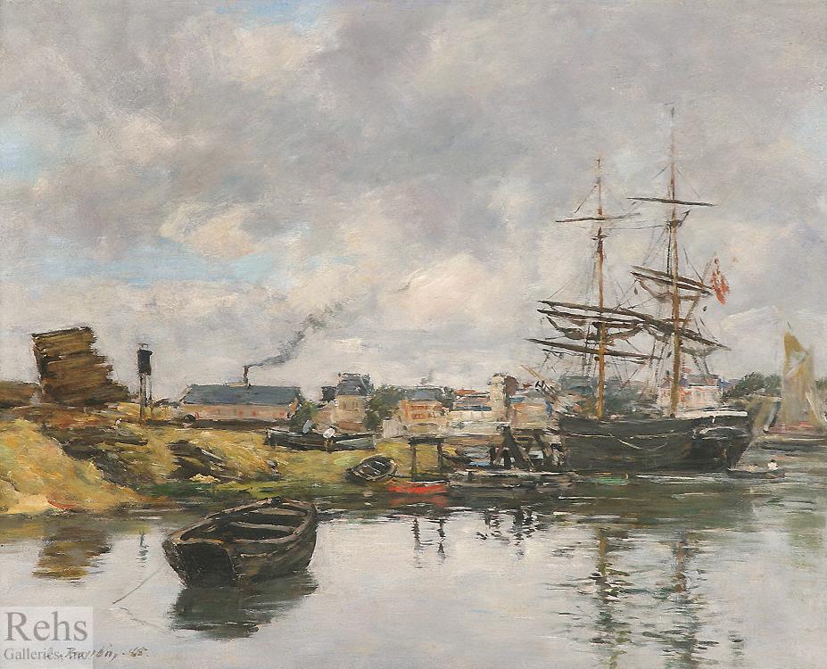 alt Trouville, le port maree basse