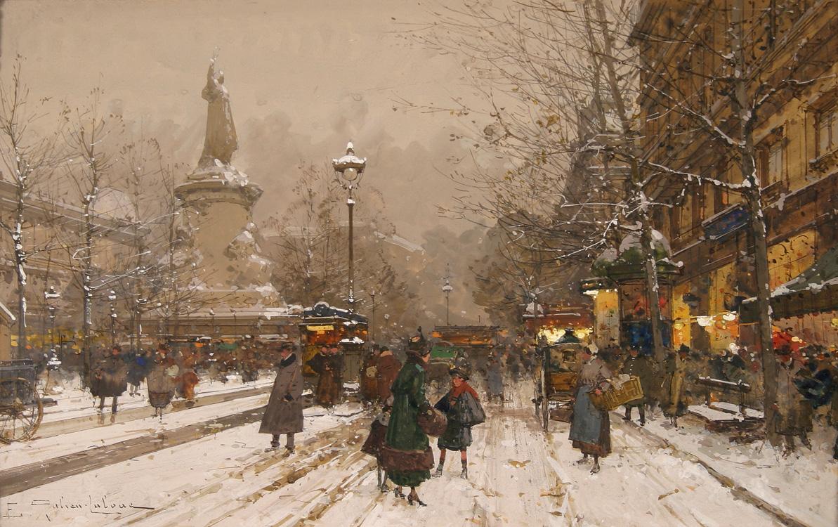 alt Place de la Republique in Winter