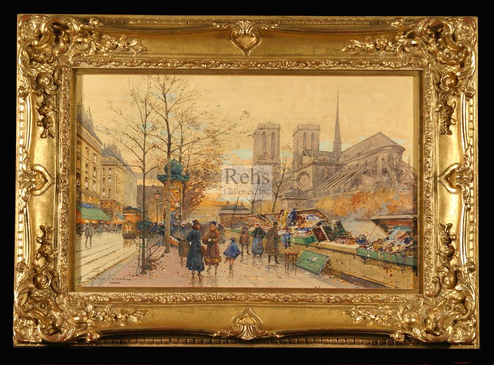 alt Les bouquinistes sur les quais a Notre Dame