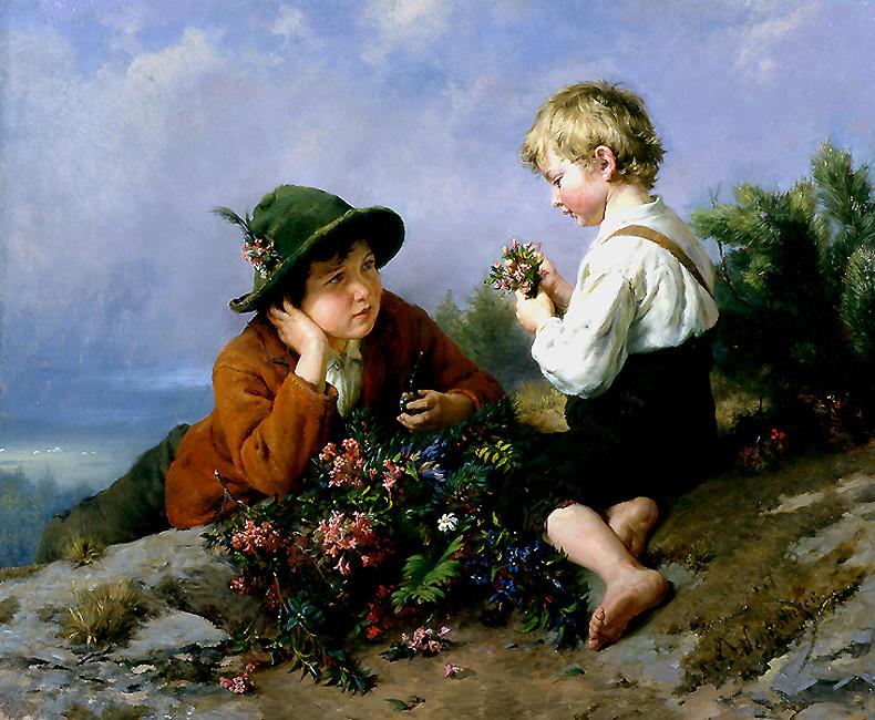 alt Gathering Wildflowers