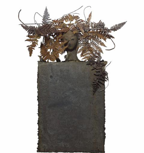 Helechos bronze sculpture by artist Manolo Valdés