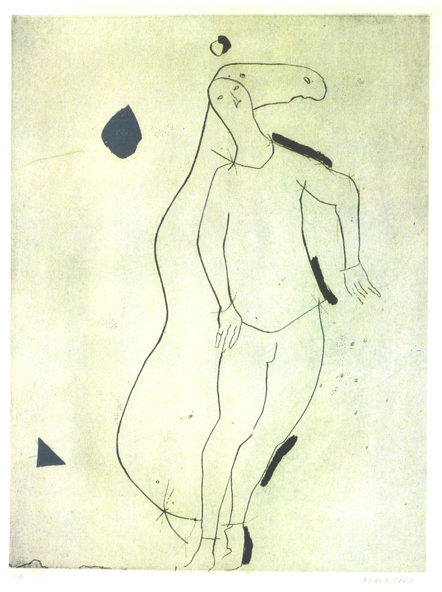 alt La Sorpresa I, from Personaggi, Plate III, 1973