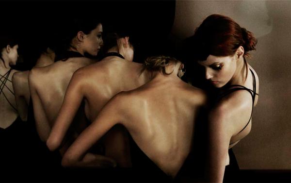 Armani Girls Fall/Winter 2006, Paris C-print by fine art photographer Simon Procter