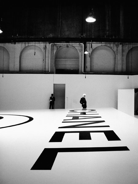 Lagerfeld Above Chanel, 2004/2005 Fall/Winter Haute Couture Show in the Ateliers Berthier C-print by fine art photographer Simon Procter
