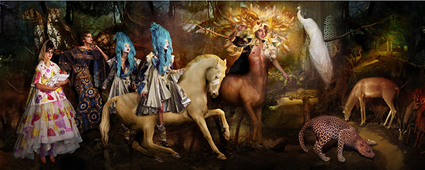 The Lost Prince of Iberia (Christian Dior Haute Couture) C-print by fine art photographer Simon Procter