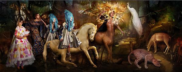 The Lost Prince of Iberia (Christian Dior Haute Couture) C-print by fine art photographer Simon Procter