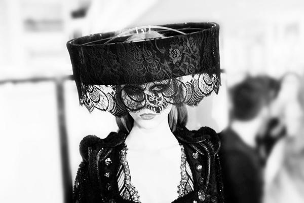 The Veil, Givenchy Spring 2010 Haute Couture, Paris C-print by fine art photographer Simon Procter