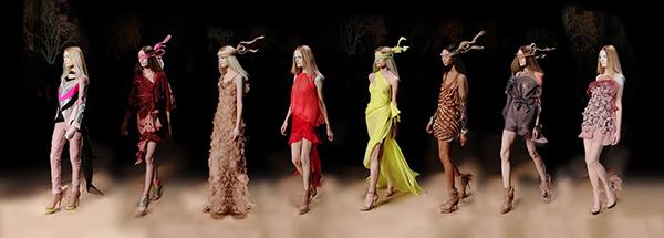 Valentino Eight Haute Couture 2010, Paris C-print by fine art photographer Simon Procter