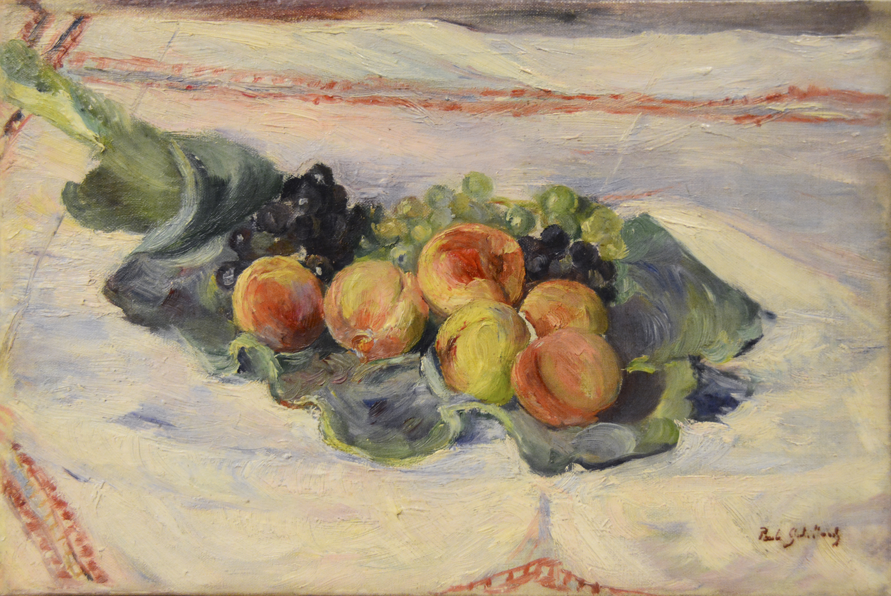 Nature morte aux pêches et au raisin (Still-life with Peaches and Grapes)