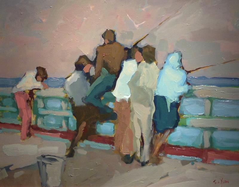 """Fishing off the Wharf"""