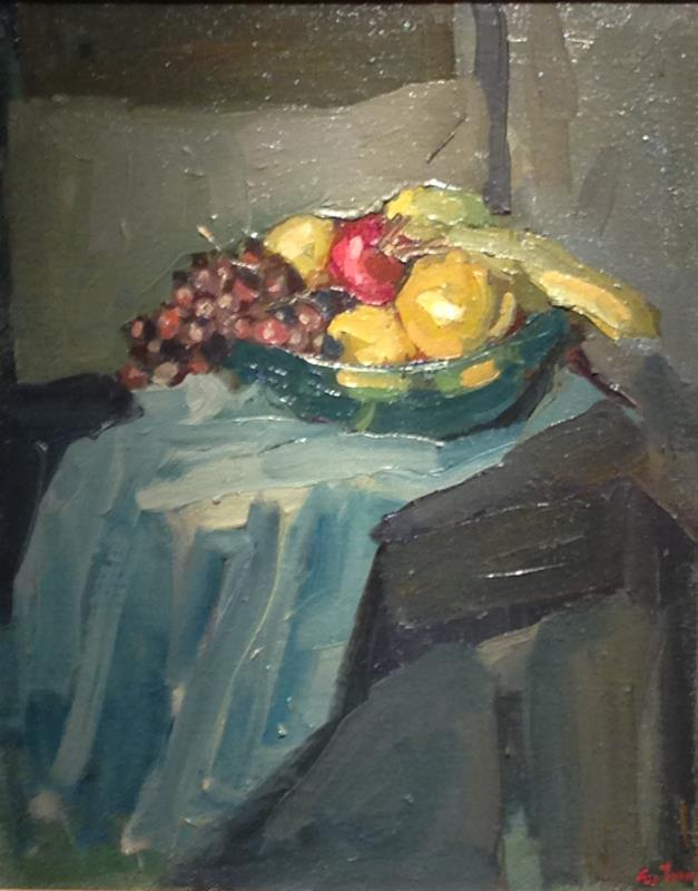"""""""Still Life with Glass Bowl of Fruit"""""""