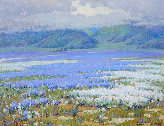 Spring Showers (Lupine, San Joaquin Valley)