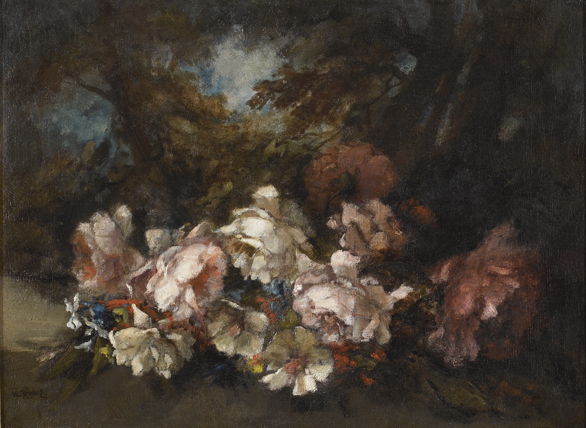 Flowers in a woodland glade