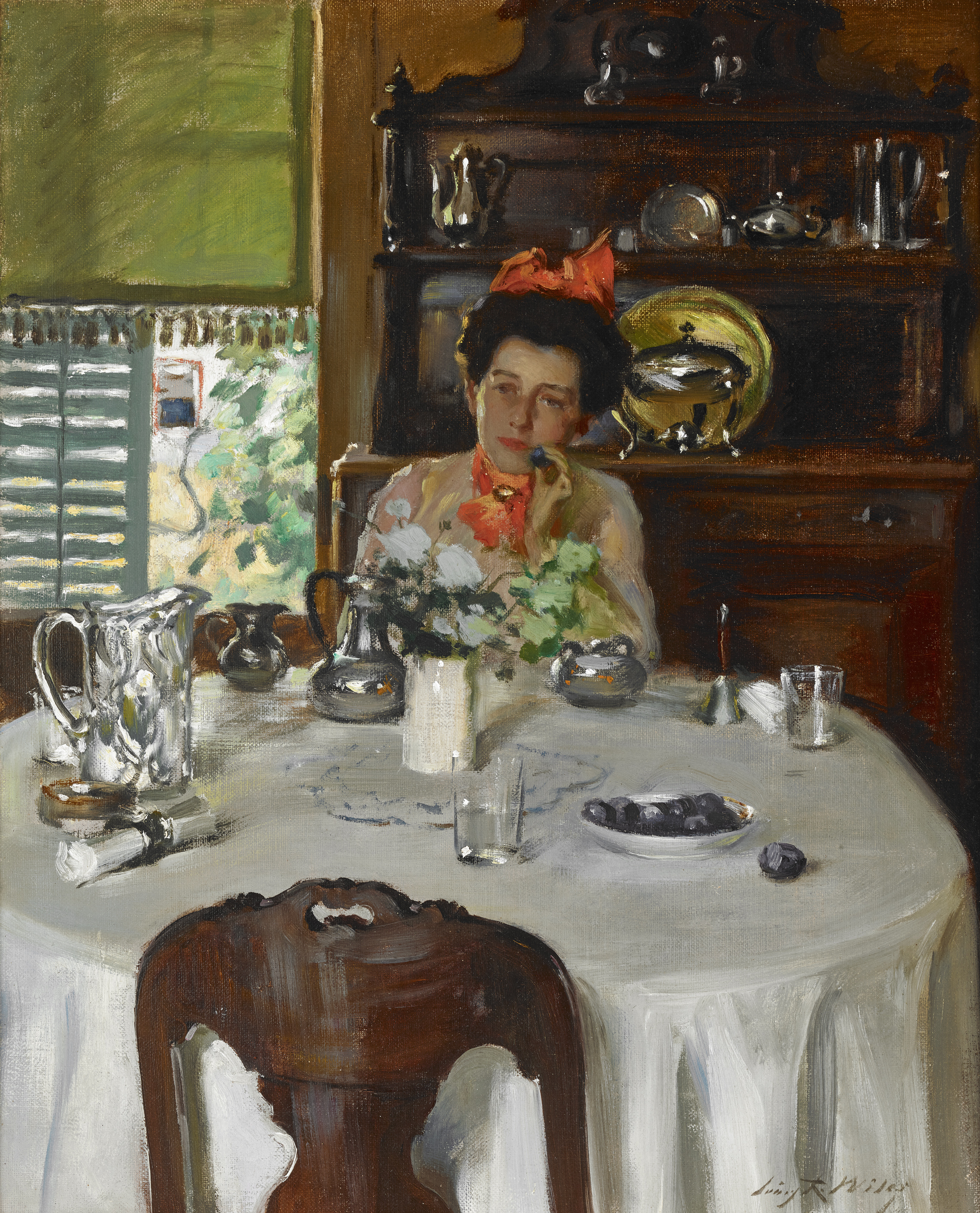 Woman at a Table