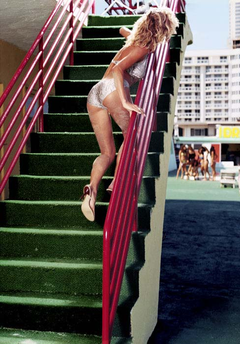 Gina on Stairs