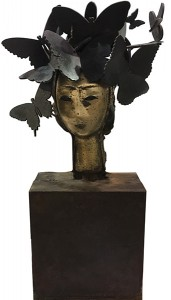 Image of Manolo Valdes, Mariposas, Bronze, 24 x 12 1/2 x 6 inches (61 x 31.8 x 15.2 cm)