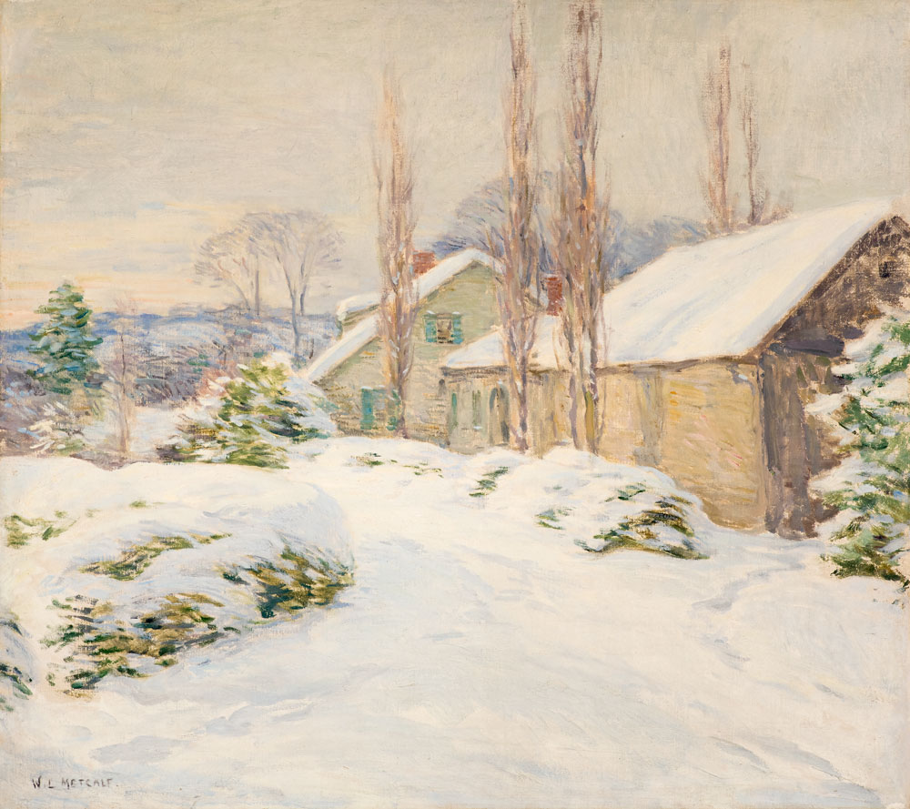 Winter Afternoon (The Shipman House, Cornish, New Hampshire)