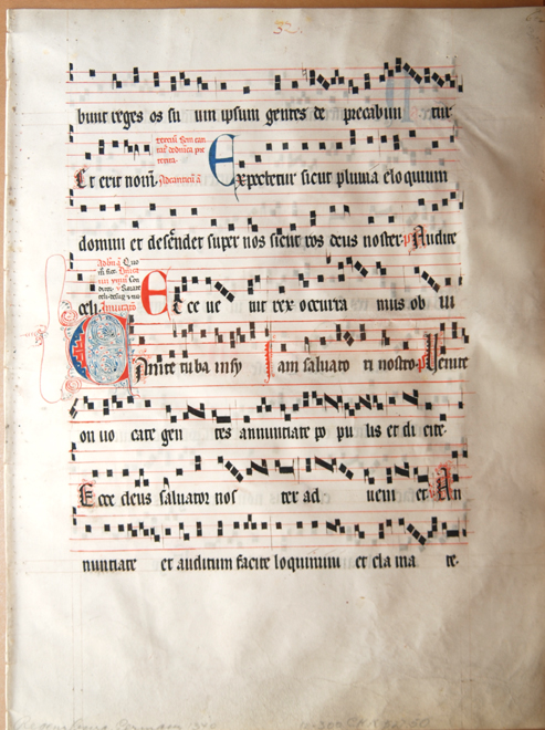 """A page from the """"Regensburg Gradual"""" of Gregorian chant"""