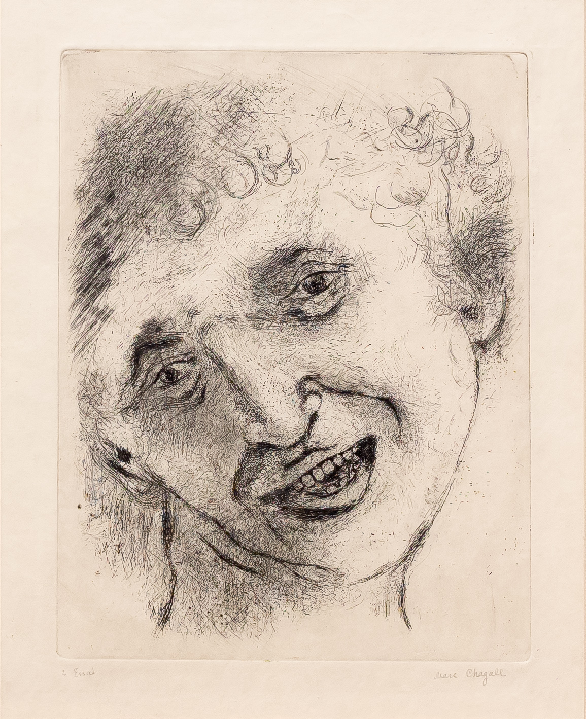 Self Portrait with a Laughing Expression