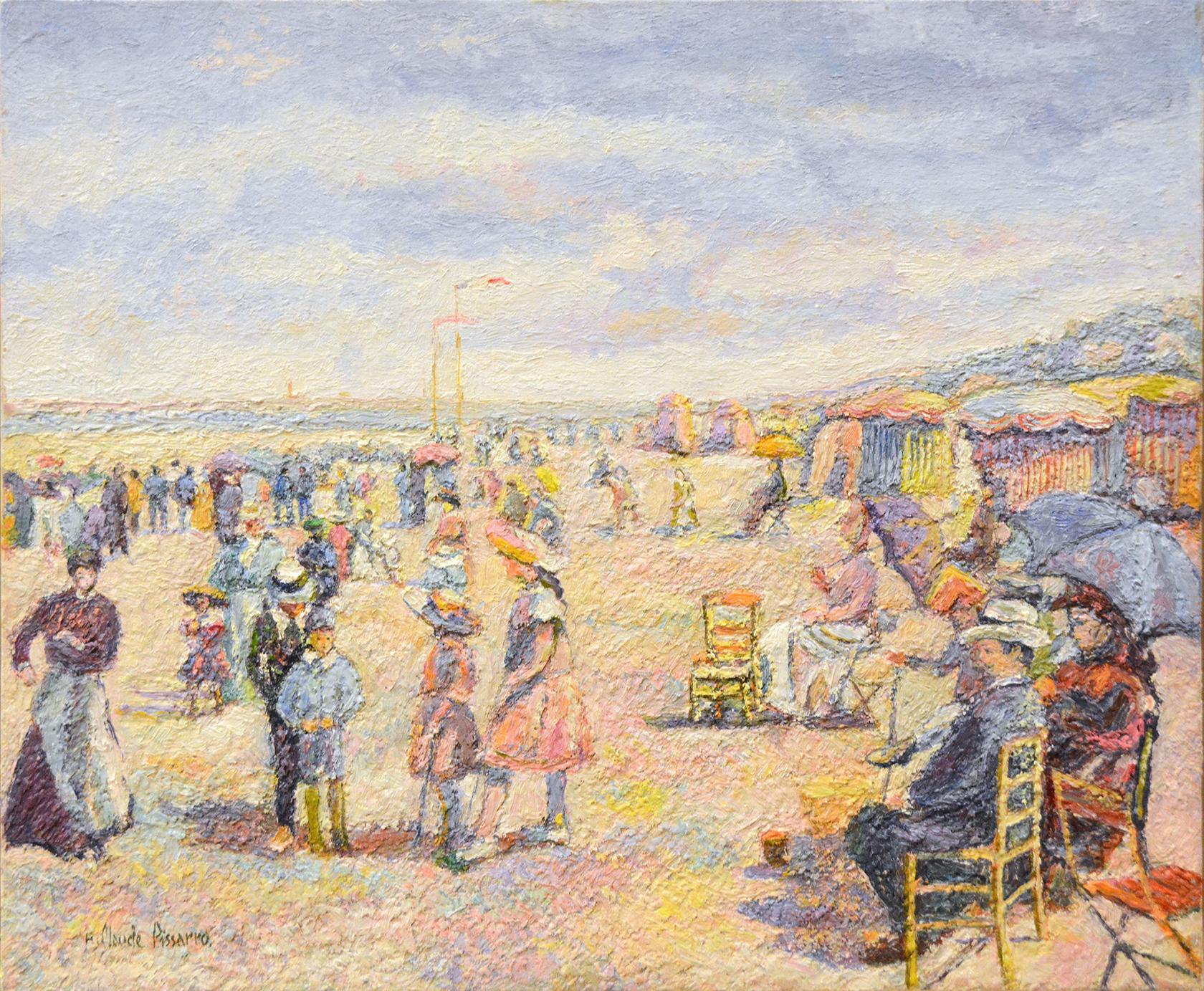 Petit matin gris à la plage, Trouville-Deauville