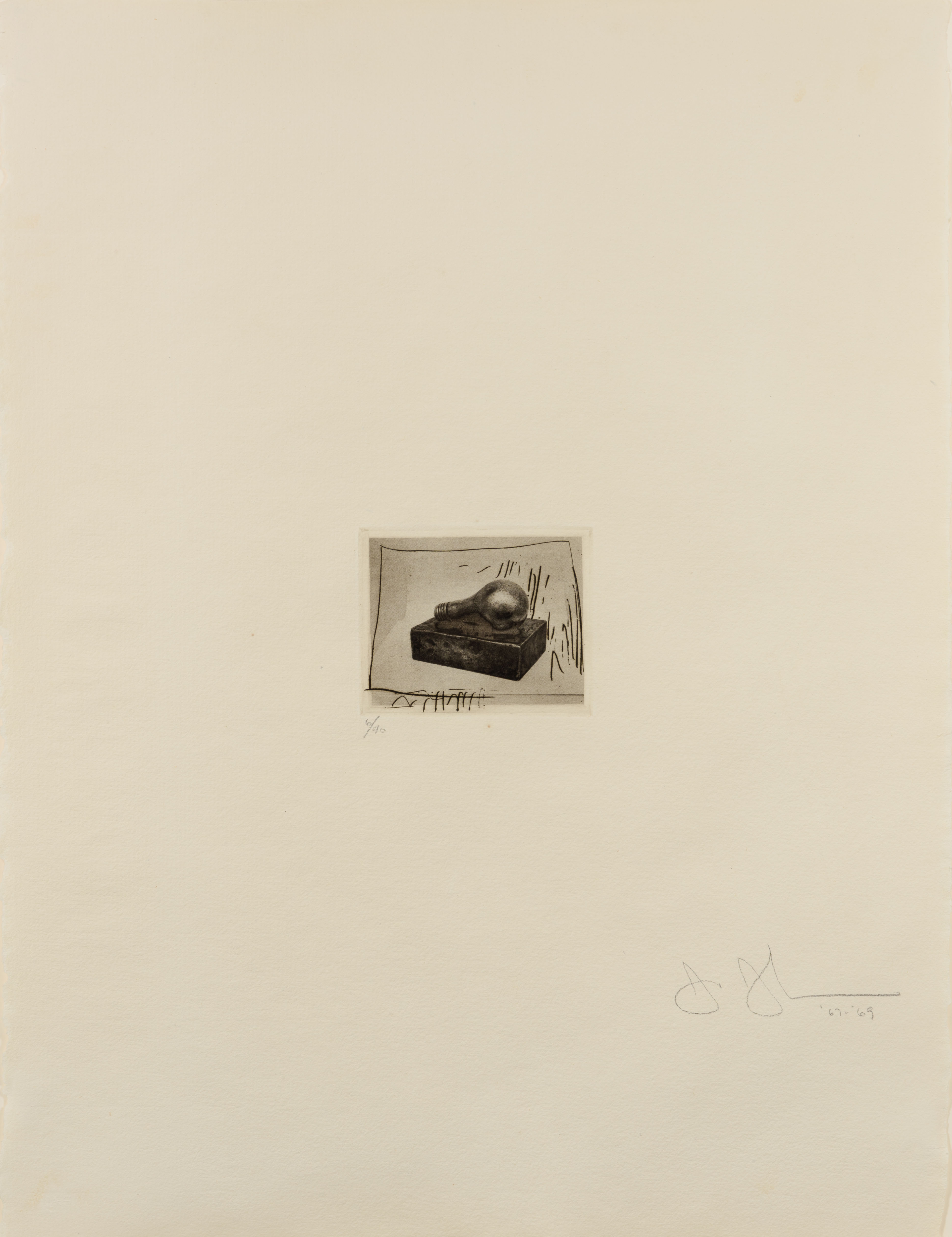 Light Bulb (Small), 1st Etchings, 2nd State
