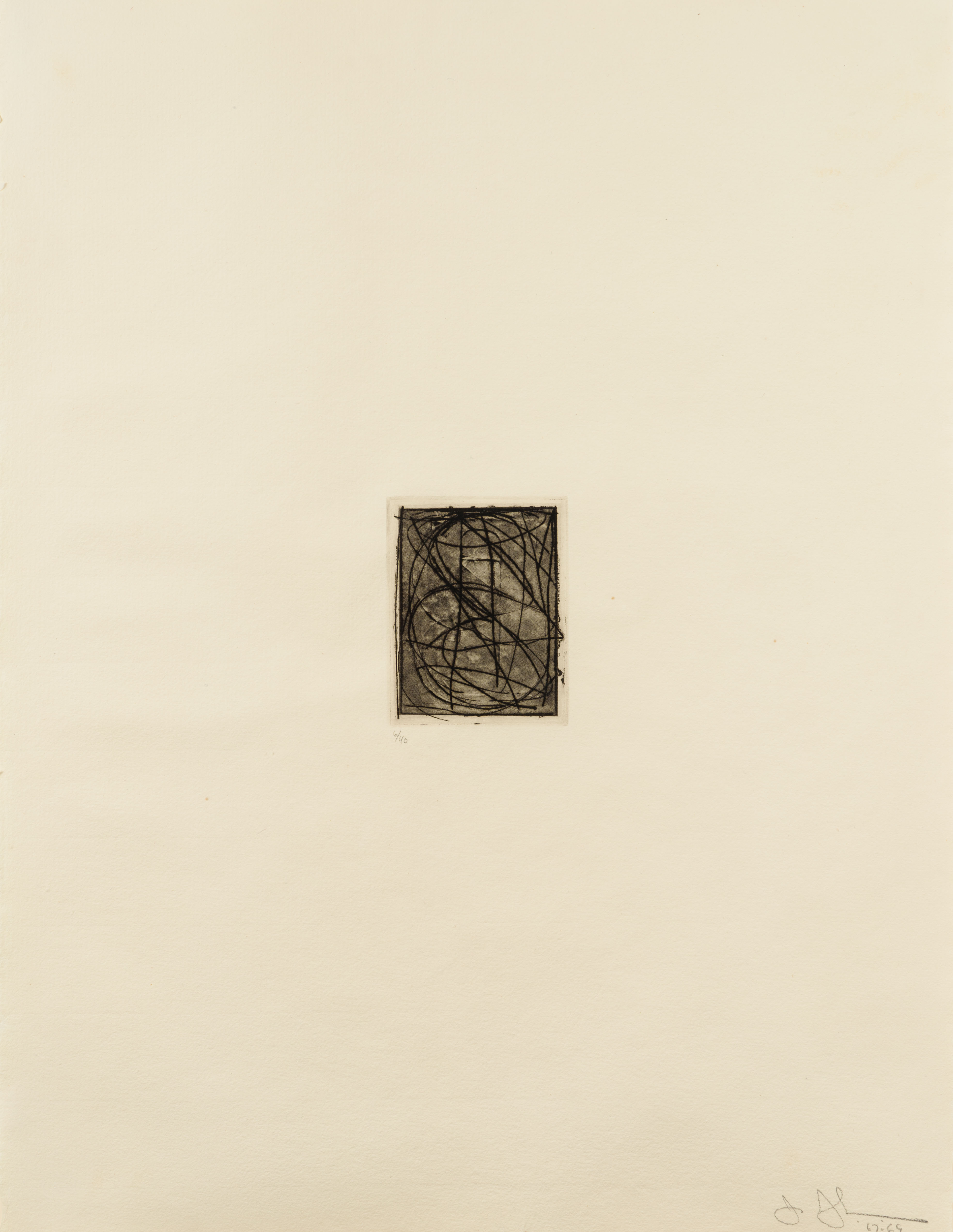 Numbers (Small), 1st Etchings, 2nd State