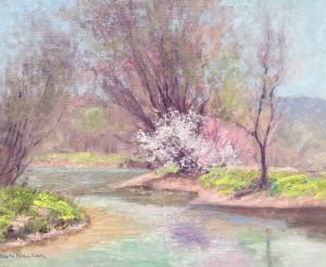 Shulz, Alberta-The Creek in Spring-cropped