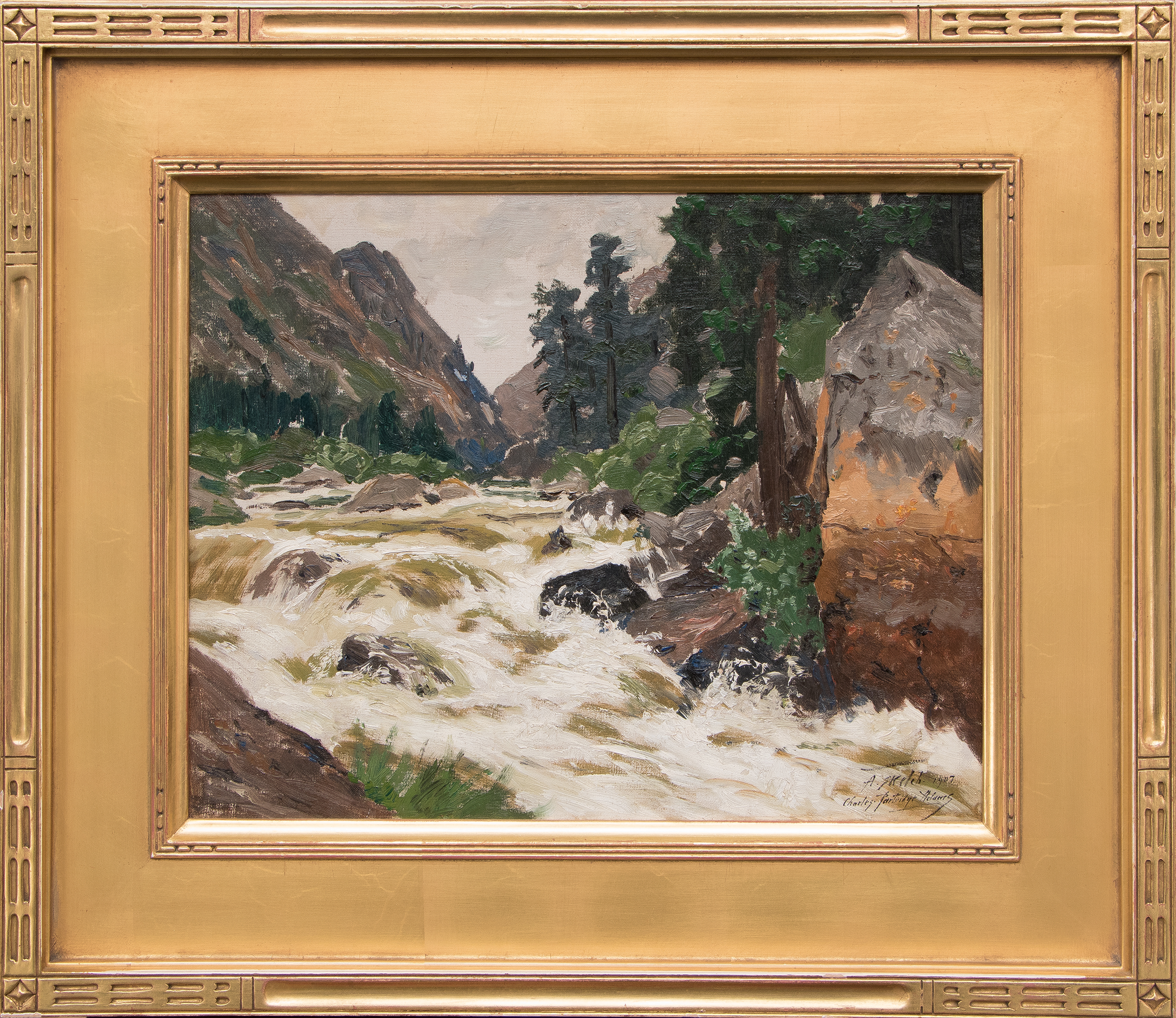 charles partridge adams colorado oil painting