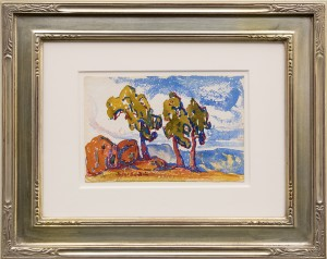 Birger Sandzen (1871-1954) Untitled (Colorado Landscape with Red Rocks and Trees) circa 1920 watercolor